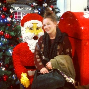 *having a cheeky chat with santa*