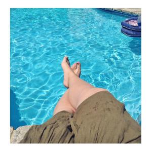 * poolside chillin' *